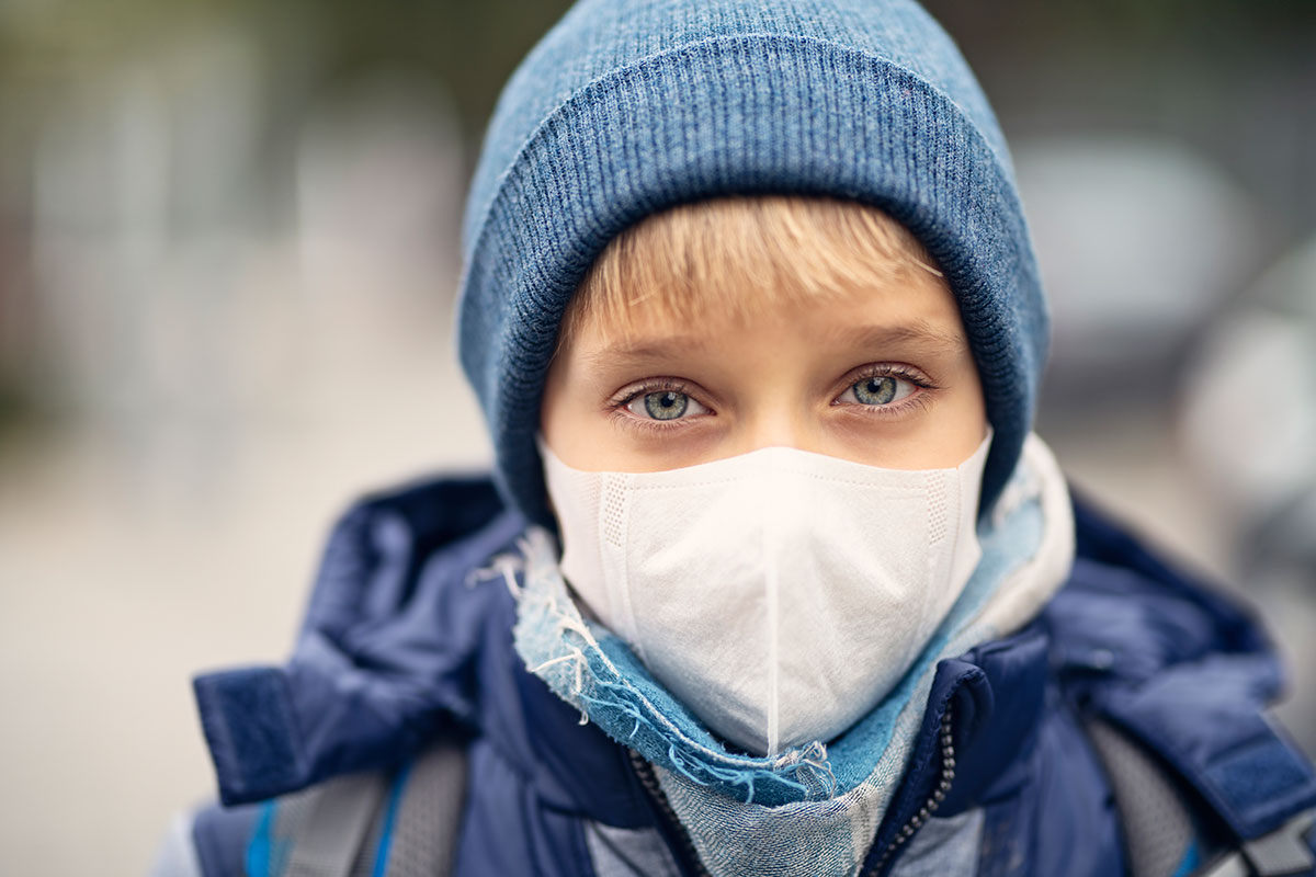 Students are absent from school because of the coronavirus